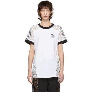 RARE Stella McCartney x Adidas white lace insert tee M